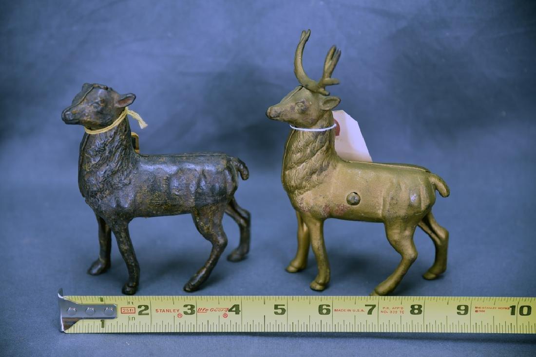 2 Cast Iron Reindeer Still Banks A.C. Williams - 2