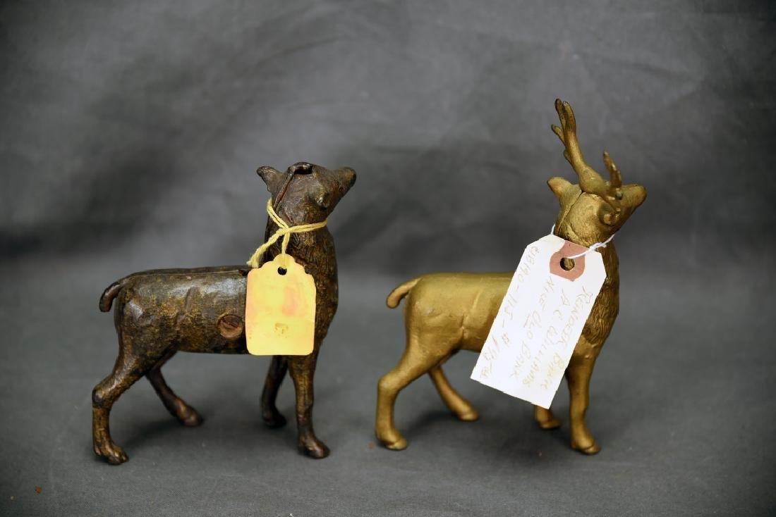 2 Cast Iron Reindeer Still Banks A.C. Williams - 3