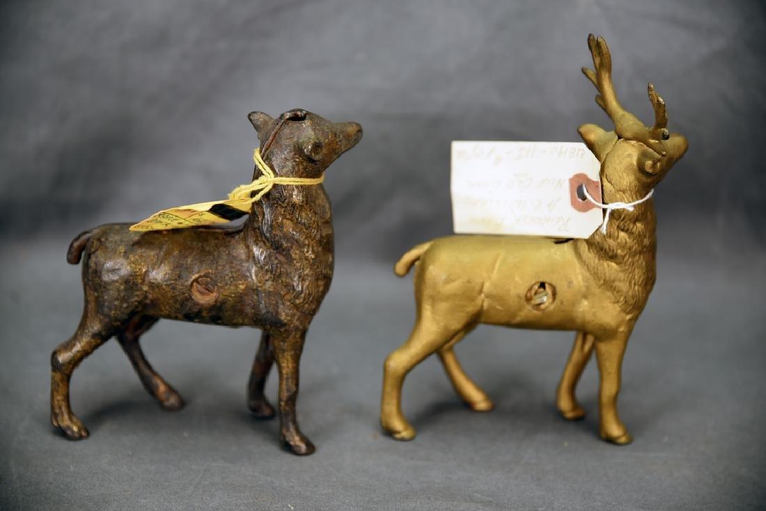2 Cast Iron Reindeer Still Banks A.C. Williams - 4