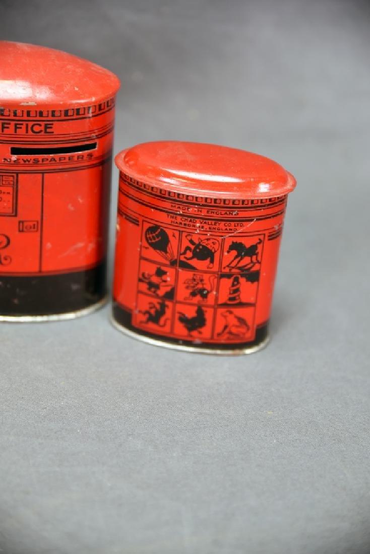 6 Vintage Tin Banks, Chein Clowns, Chad Valley - 7