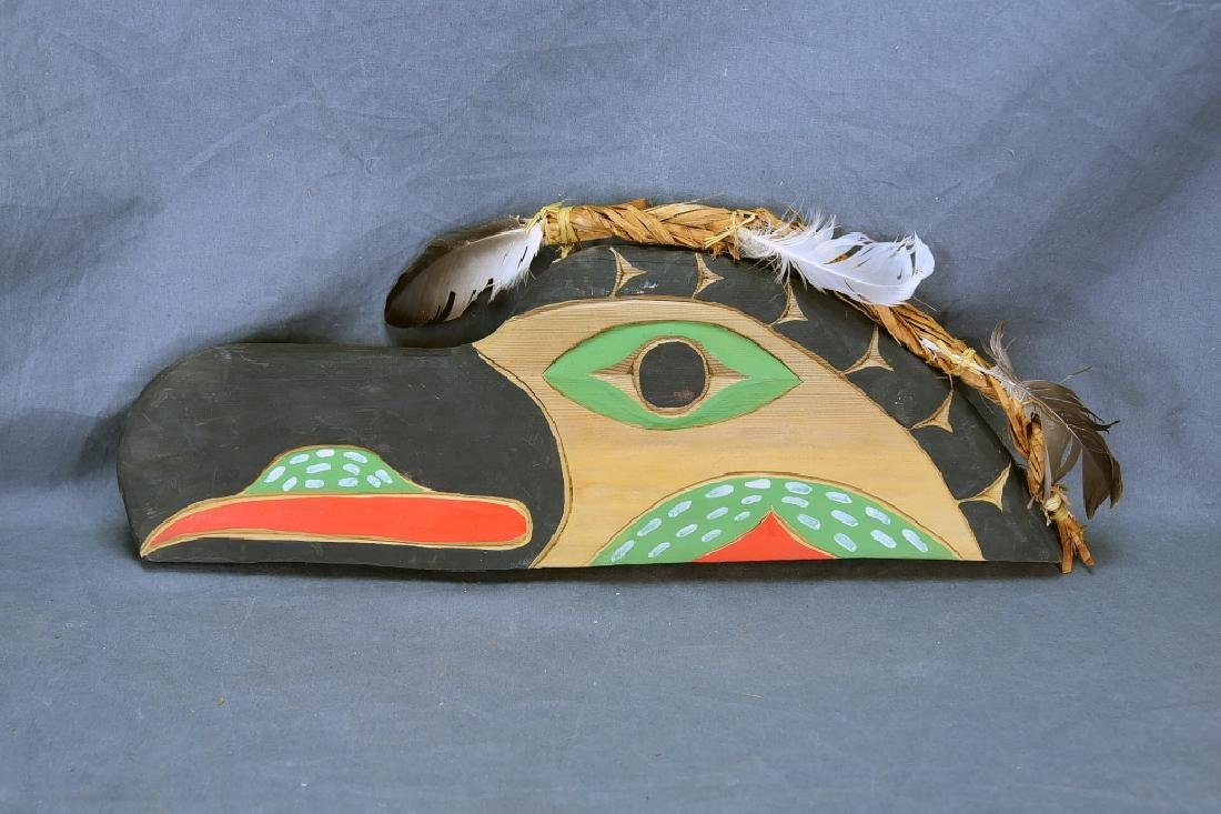 Native Carved Raven Signed Jimmy Chester Nitinaht