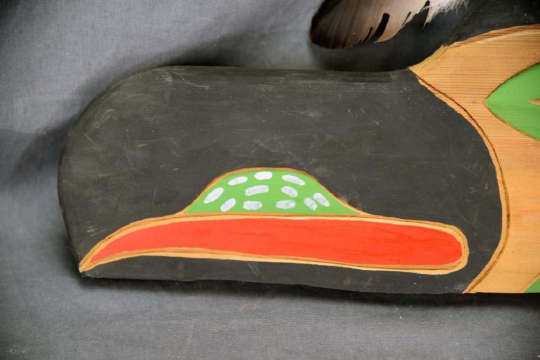 Native Carved Raven Signed Jimmy Chester Nitinaht - 2
