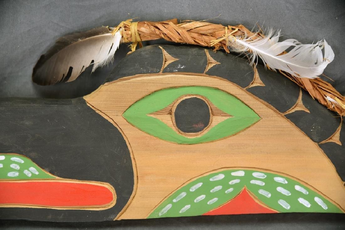 Native Carved Raven Signed Jimmy Chester Nitinaht - 3