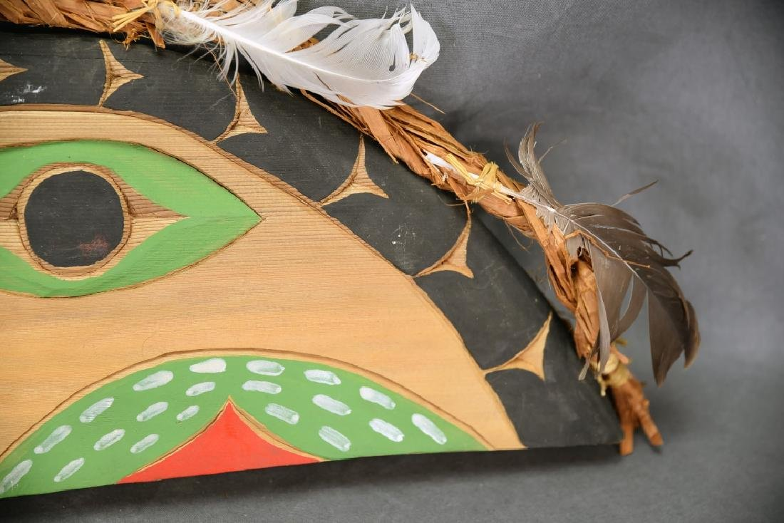 Native Carved Raven Signed Jimmy Chester Nitinaht - 4
