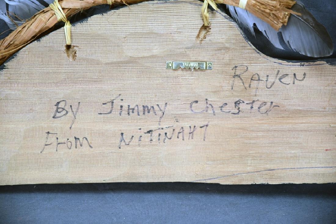 Native Carved Raven Signed Jimmy Chester Nitinaht - 5