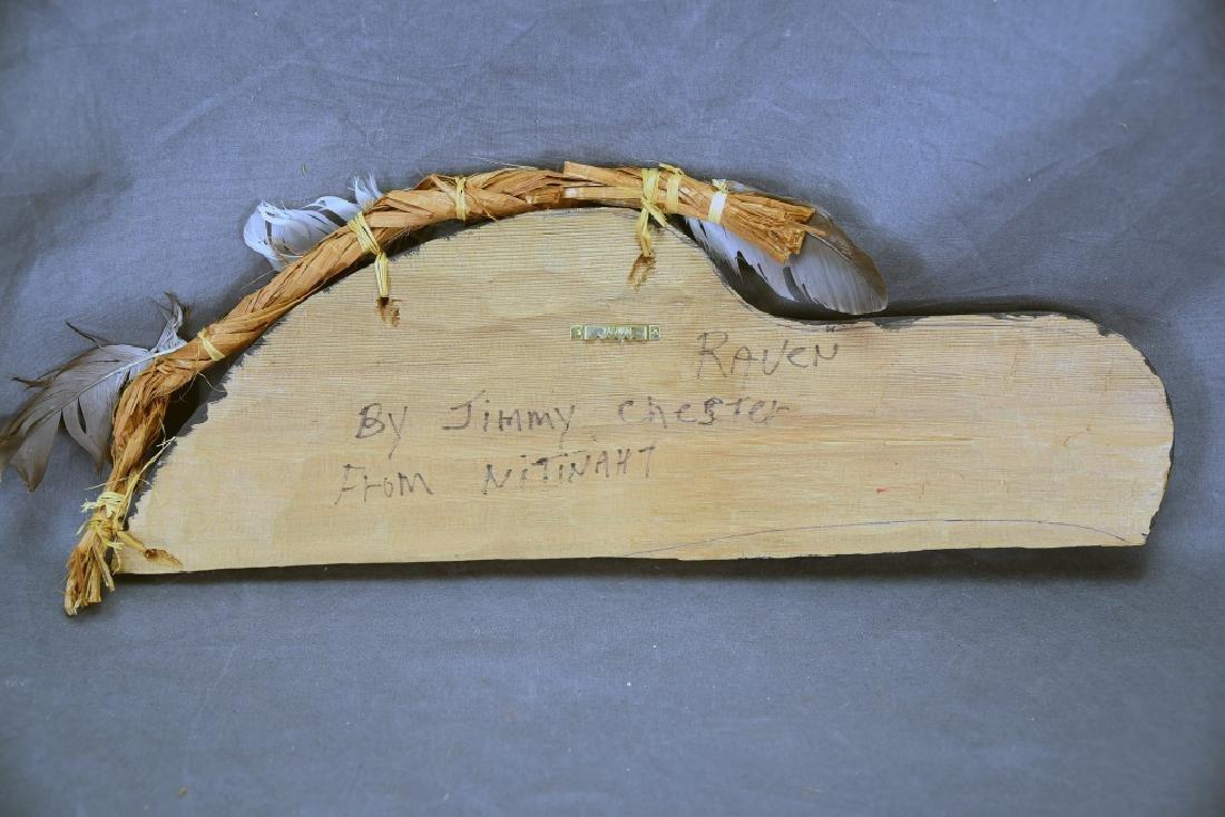 Native Carved Raven Signed Jimmy Chester Nitinaht - 6