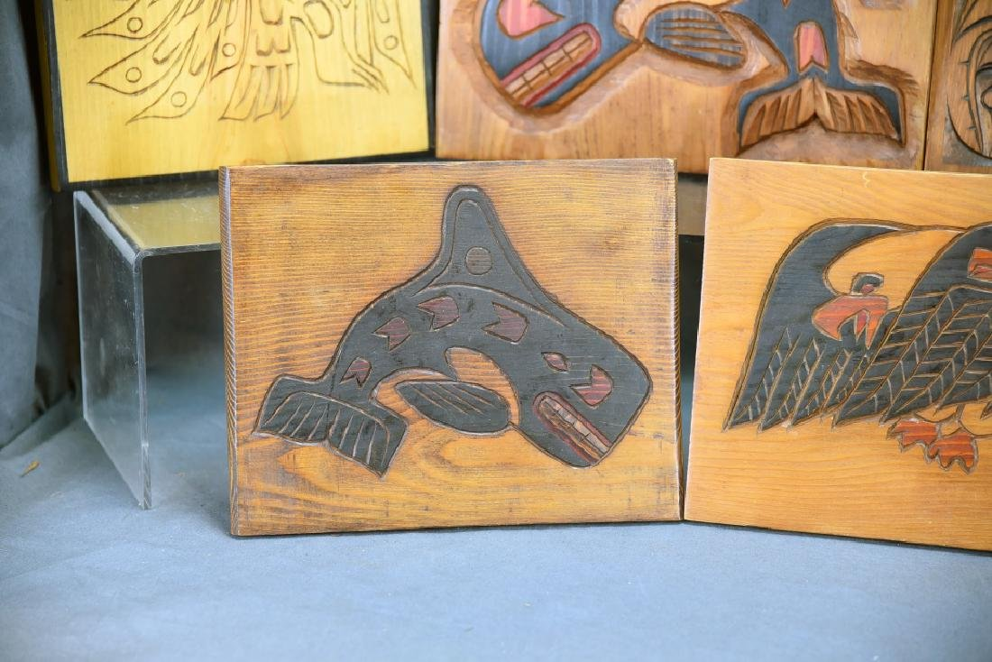 9 Carved Wooden Wall Plaques Ray Shaw Nitinaht - 3