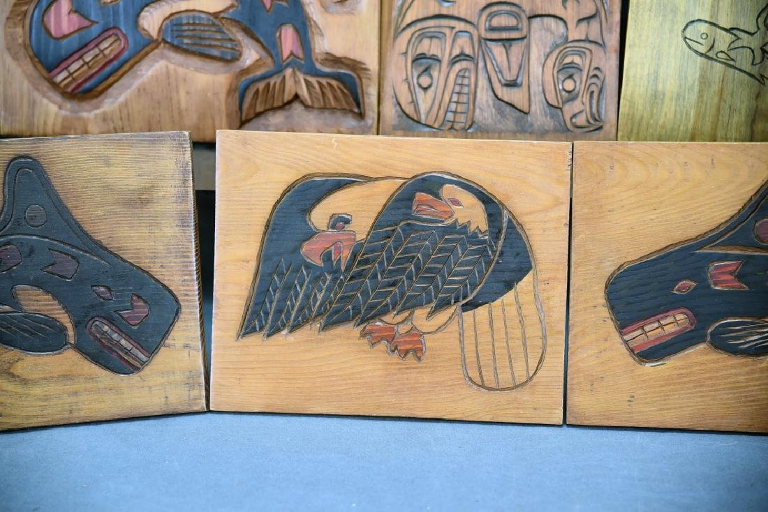 9 Carved Wooden Wall Plaques Ray Shaw Nitinaht - 4