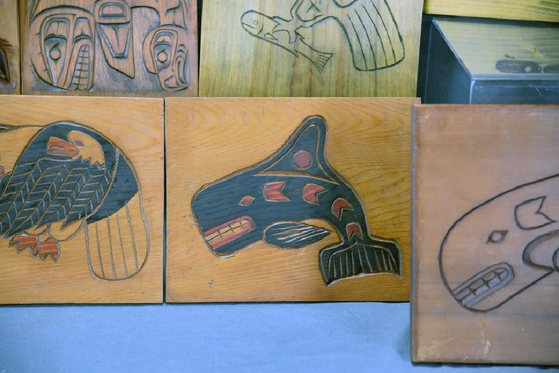 9 Carved Wooden Wall Plaques Ray Shaw Nitinaht - 5