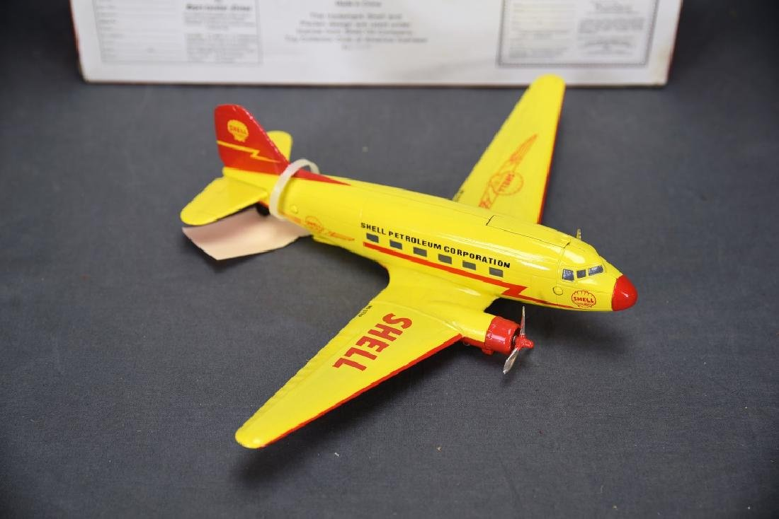 Shell Diecast DC-3 Airplane Bank with Box - 5