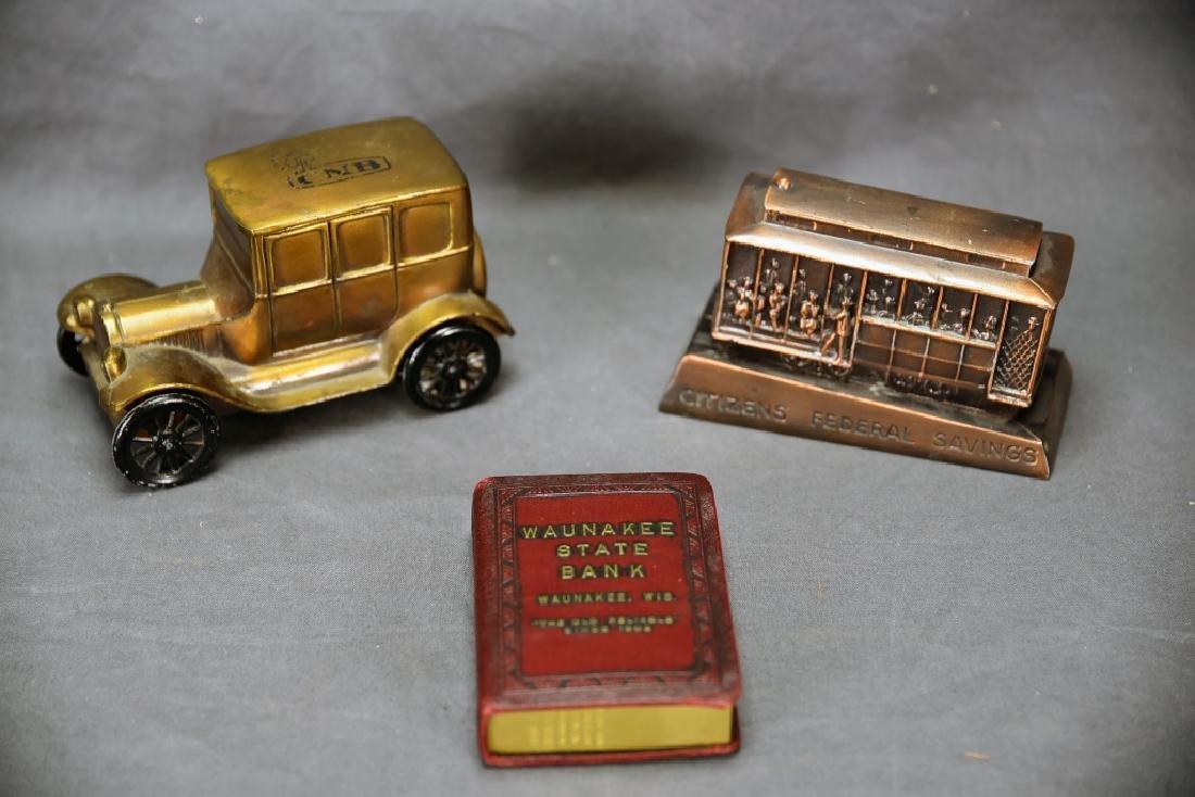 3 Vintage Promotional Bank Advertising Banks