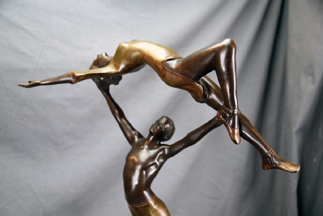 Bronze Sculpture Dancing Couple Signed G.B. - 2