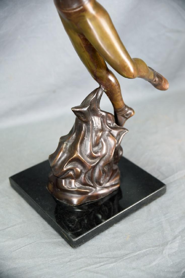 Bronze Sculpture Dancing Couple Signed G.B. - 4