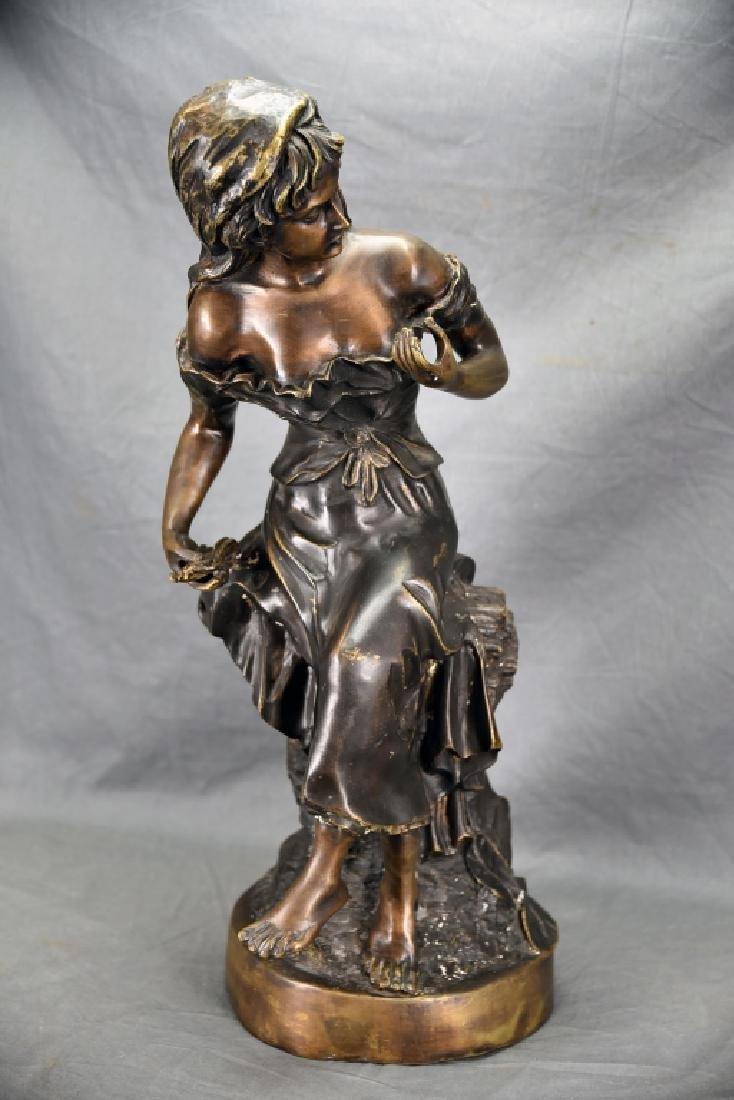 Antique Bronze Sculpture of a Woman