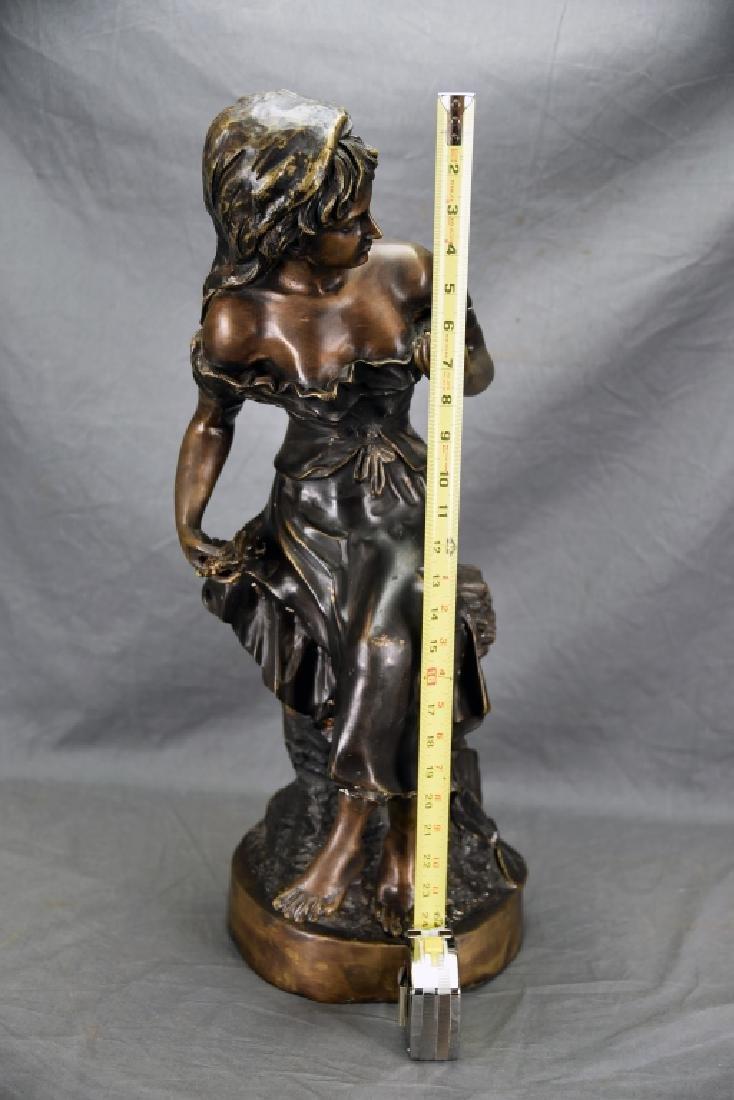 Antique Bronze Sculpture of a Woman - 2