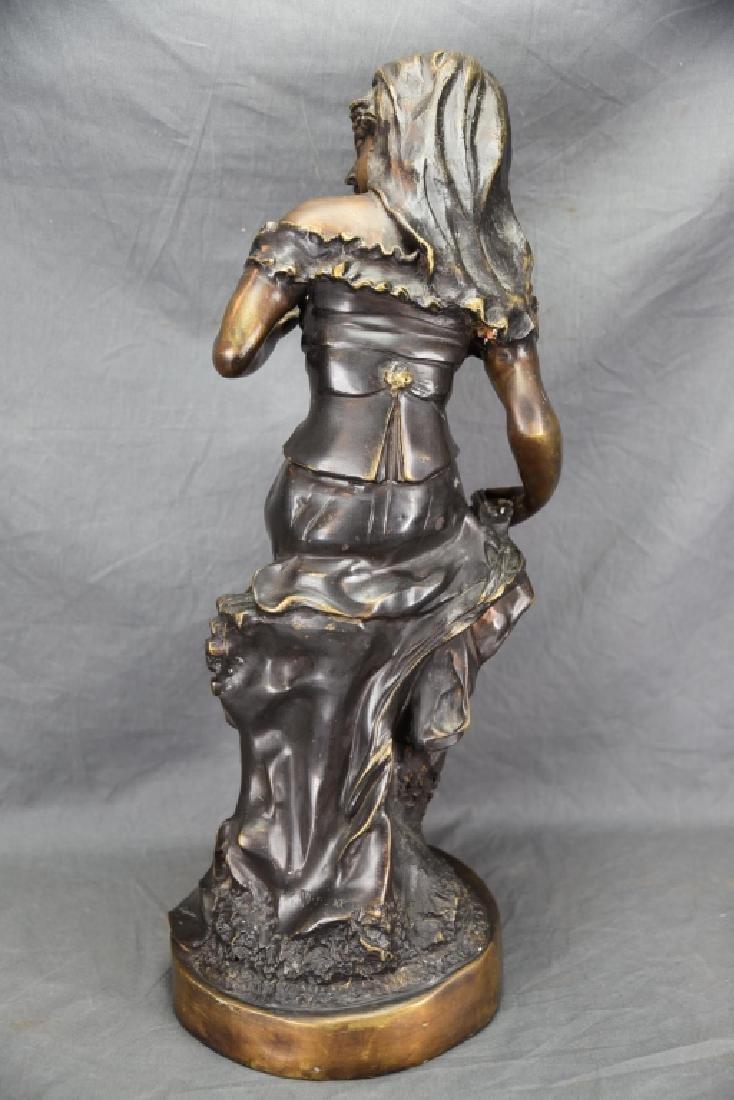 Antique Bronze Sculpture of a Woman - 8