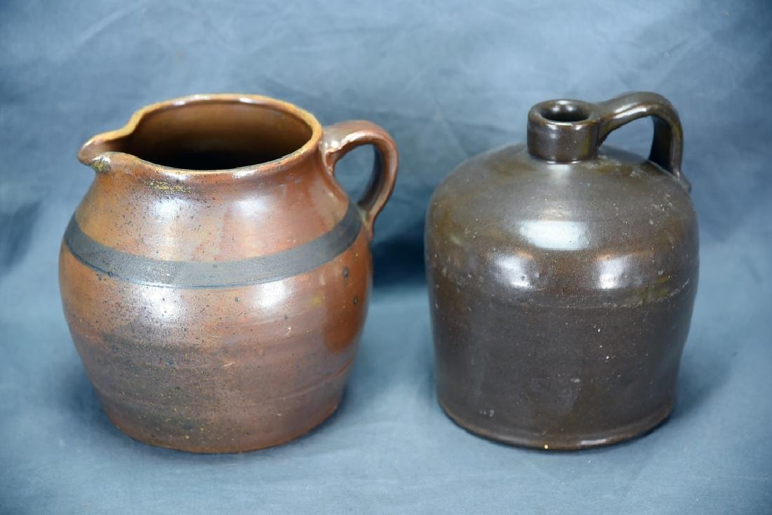 Hand Thrown Red Clay Jug and Pitcher