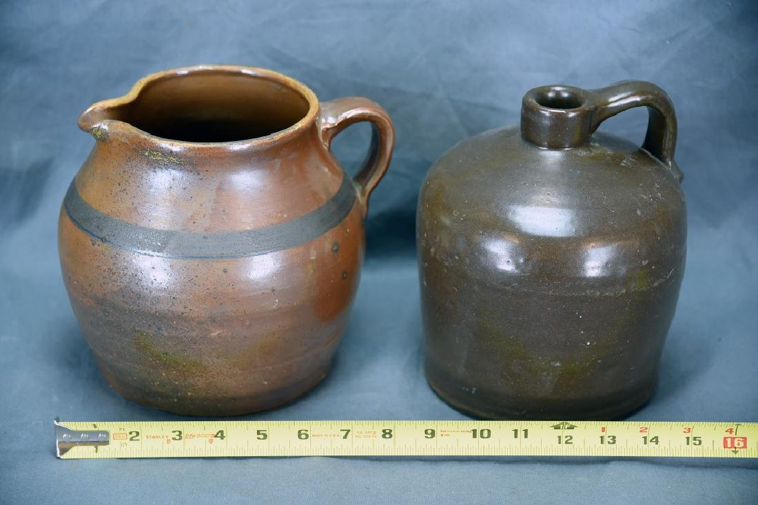 Hand Thrown Red Clay Jug and Pitcher - 2