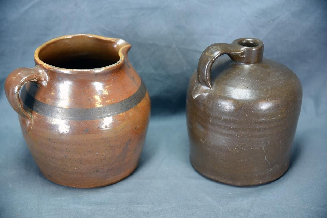 Hand Thrown Red Clay Jug and Pitcher - 3