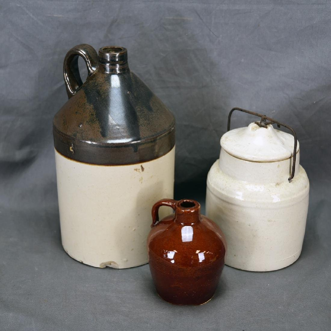 Stoneware Canning Jar and 2 Jugs