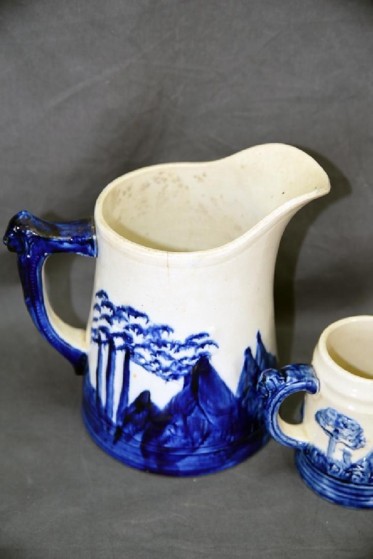 Old Sleepy Eye Pottery 2 Pitchers and Mug - 4