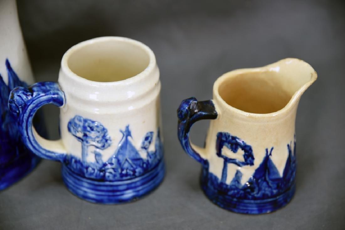 Old Sleepy Eye Pottery 2 Pitchers and Mug - 5