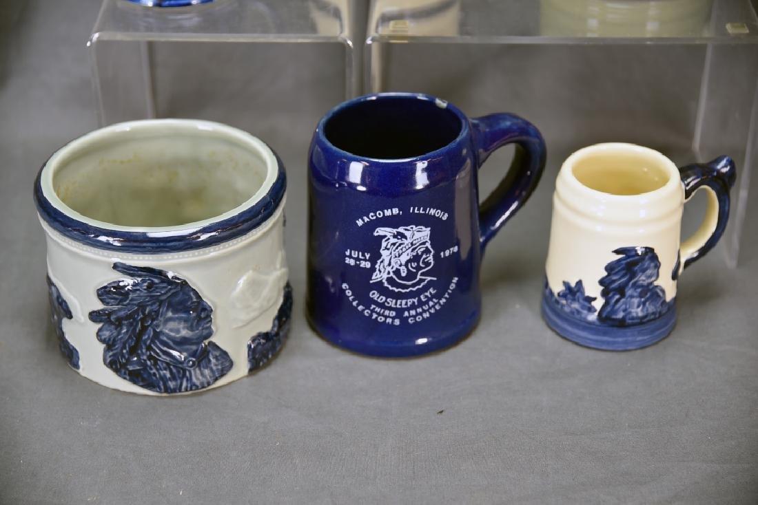 6 Pcs Old Sleepy Eye Convention Souvenir Pottery - 2
