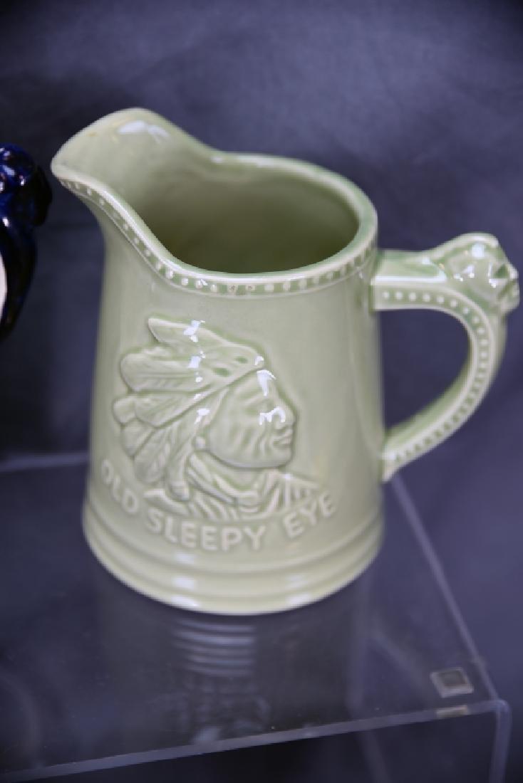 6 Pcs Old Sleepy Eye Convention Souvenir Pottery - 6