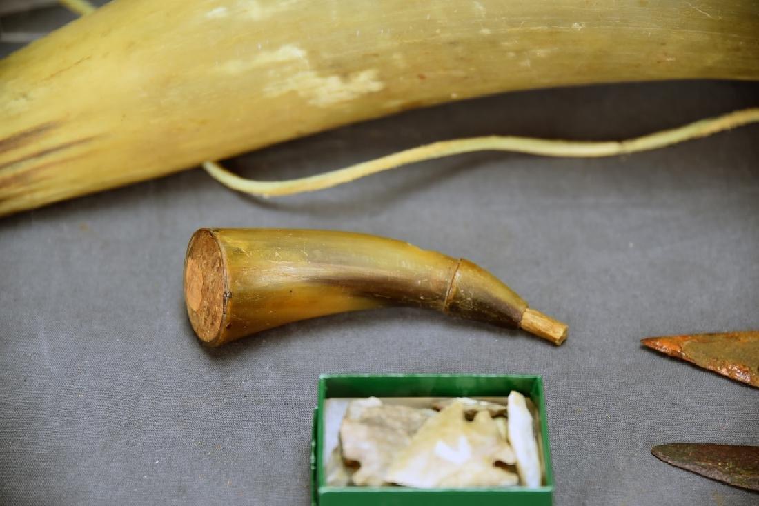 Native American Horn Bugle, Powder Horn… - 5