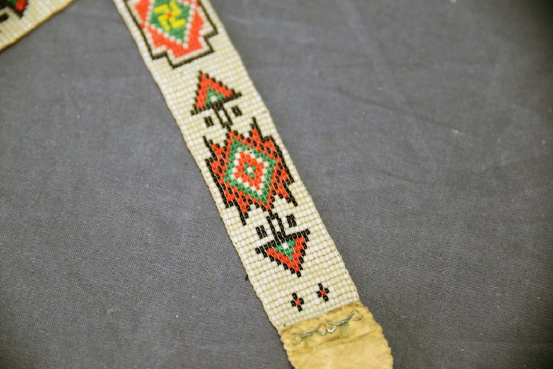 Victorian Era Ojibwe Beaded Pin Cushion, Belt - 7