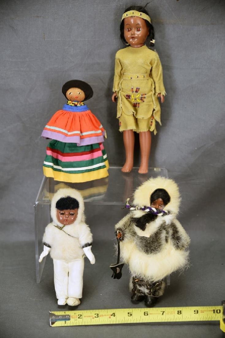 4 Vtg. Dolls, Native American Clothing, Seminole - 2