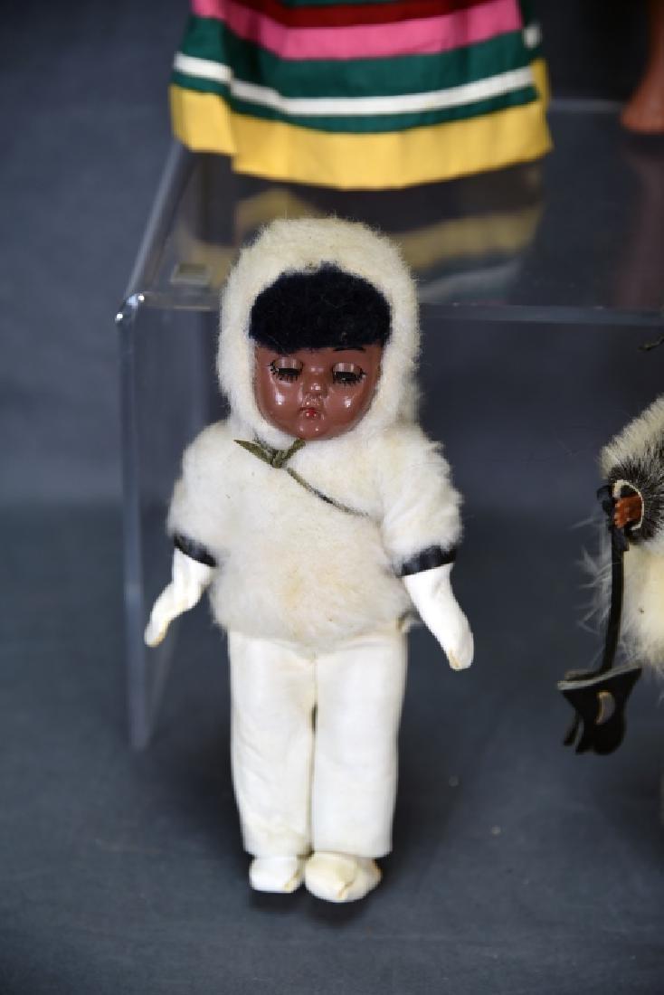 4 Vtg. Dolls, Native American Clothing, Seminole - 3