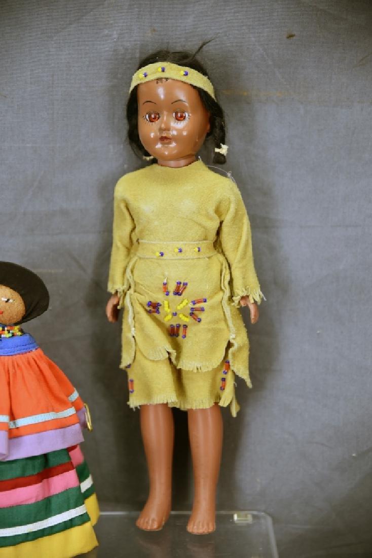 4 Vtg. Dolls, Native American Clothing, Seminole - 5