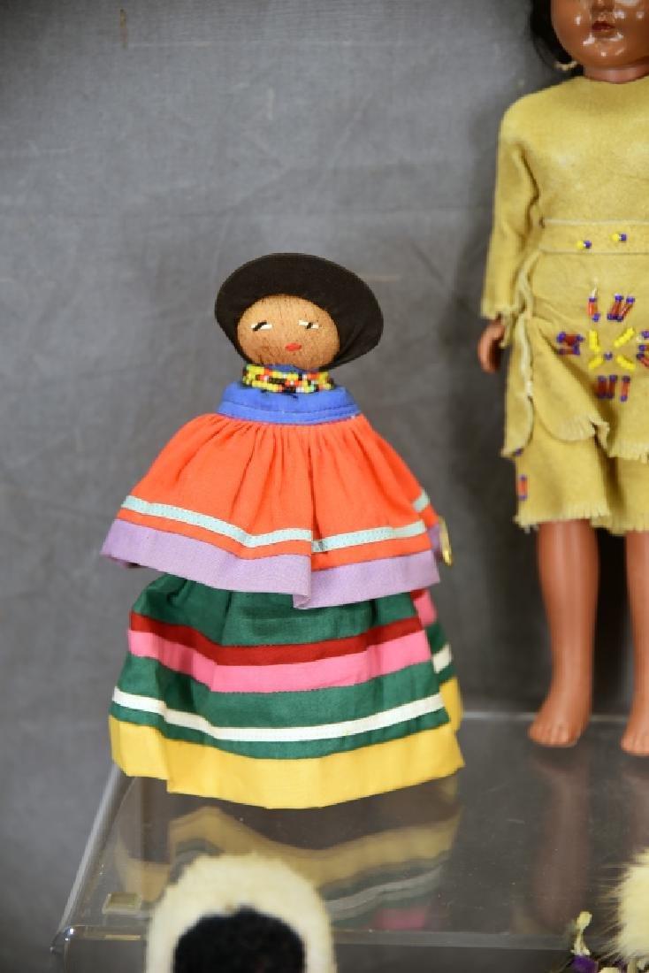 4 Vtg. Dolls, Native American Clothing, Seminole - 6