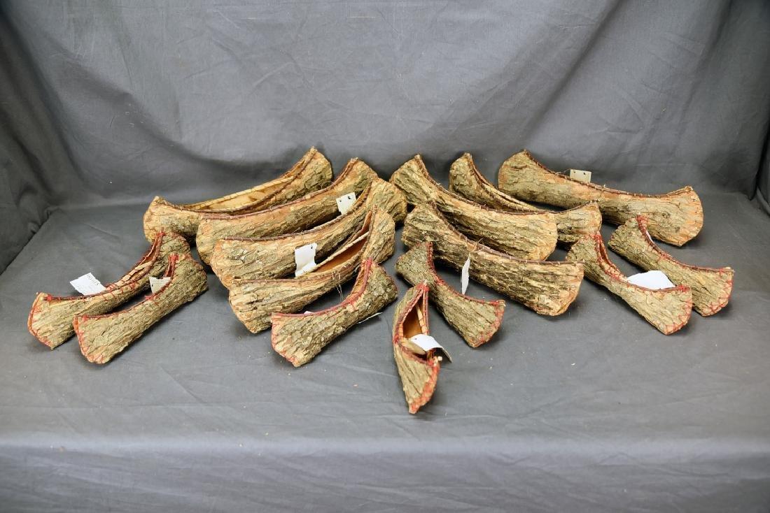 15 Ojibwa Elm Bark Canoes
