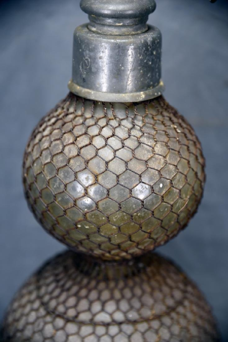 Large Double Wire Mesh Covered Seltzer Bottle - 3
