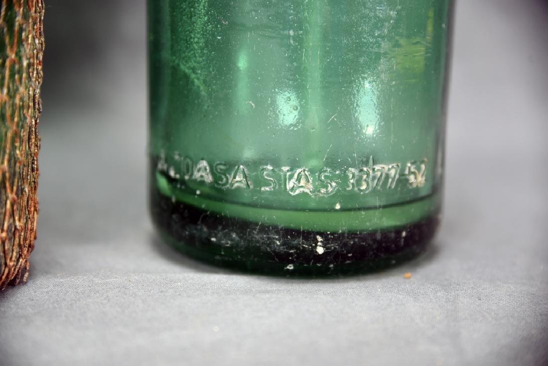 2 Green Seltzer Bottles - 10