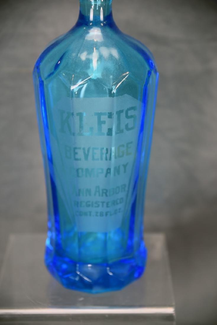 Kleis Beverage Co. Ann Arbor Blue Seltzer Bottle - 2