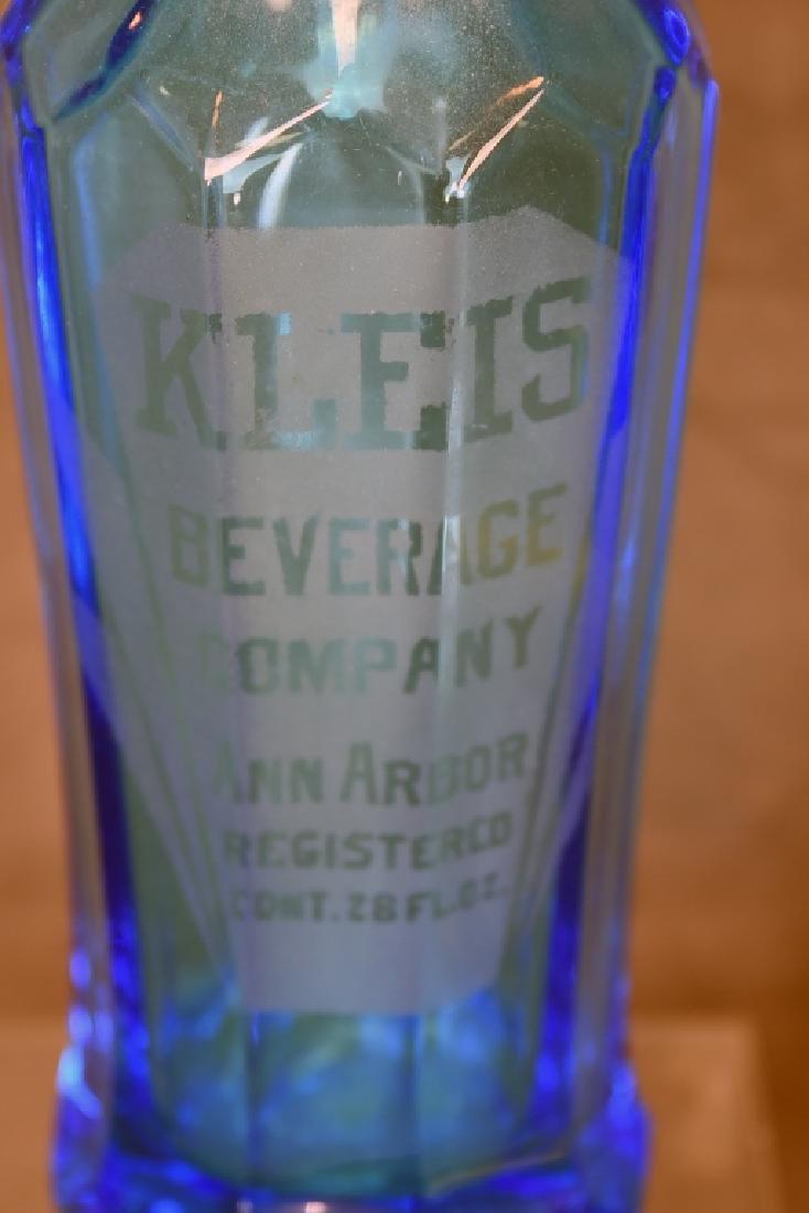 Kleis Beverage Co. Ann Arbor Blue Seltzer Bottle - 3