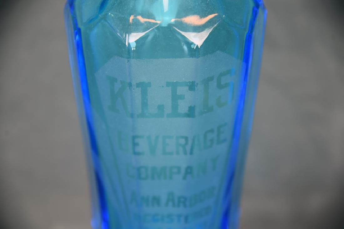 Kleis Beverage Co. Ann Arbor Blue Seltzer Bottle - 6