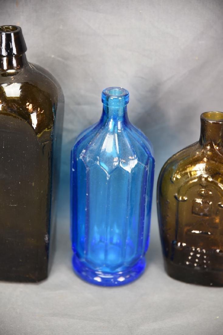 7 Older Blown Glass Bottles - 3