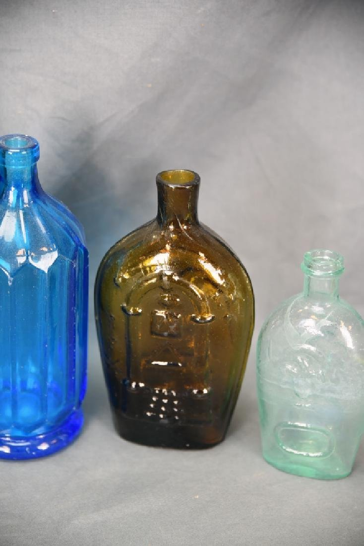7 Older Blown Glass Bottles - 4