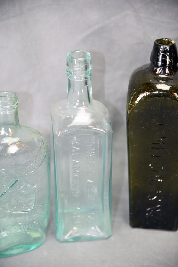 7 Older Blown Glass Bottles - 7