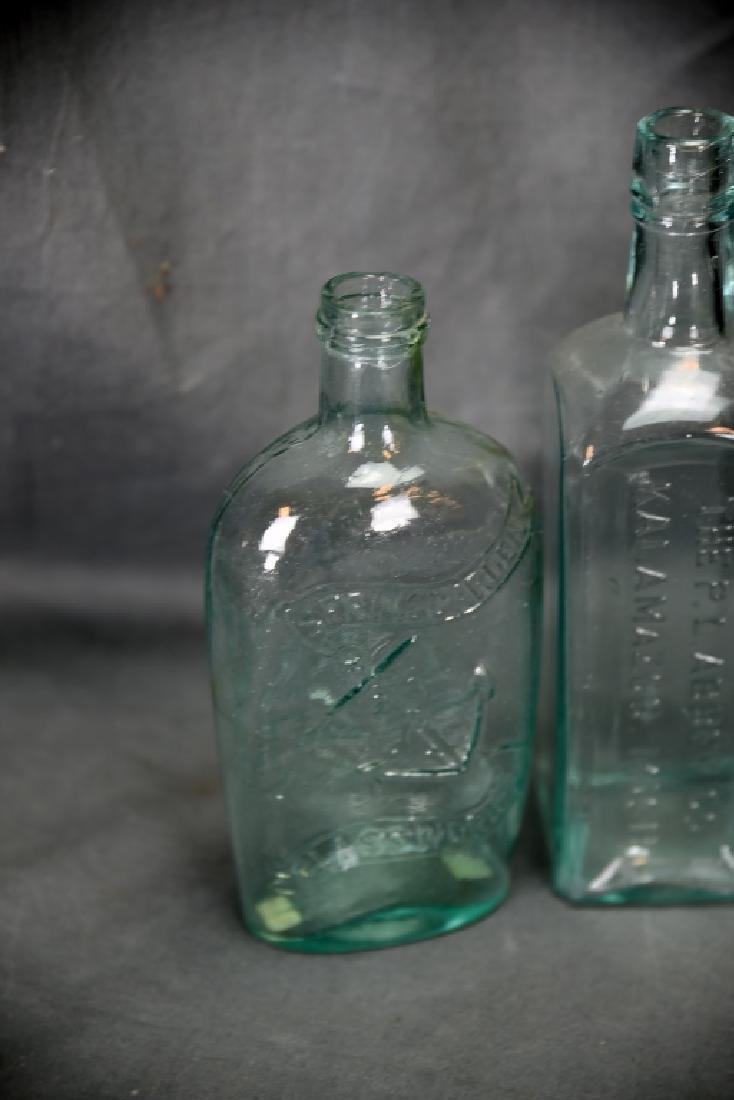 7 Older Blown Glass Bottles - 8