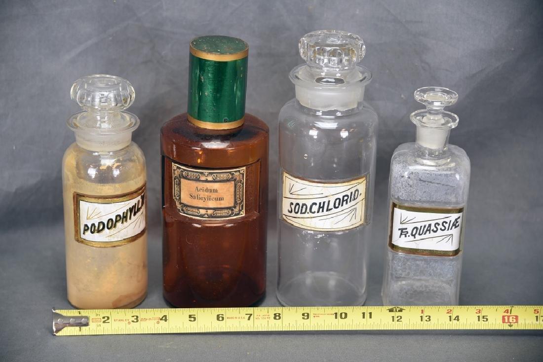 4 Antique Apothecary Bottles - 2