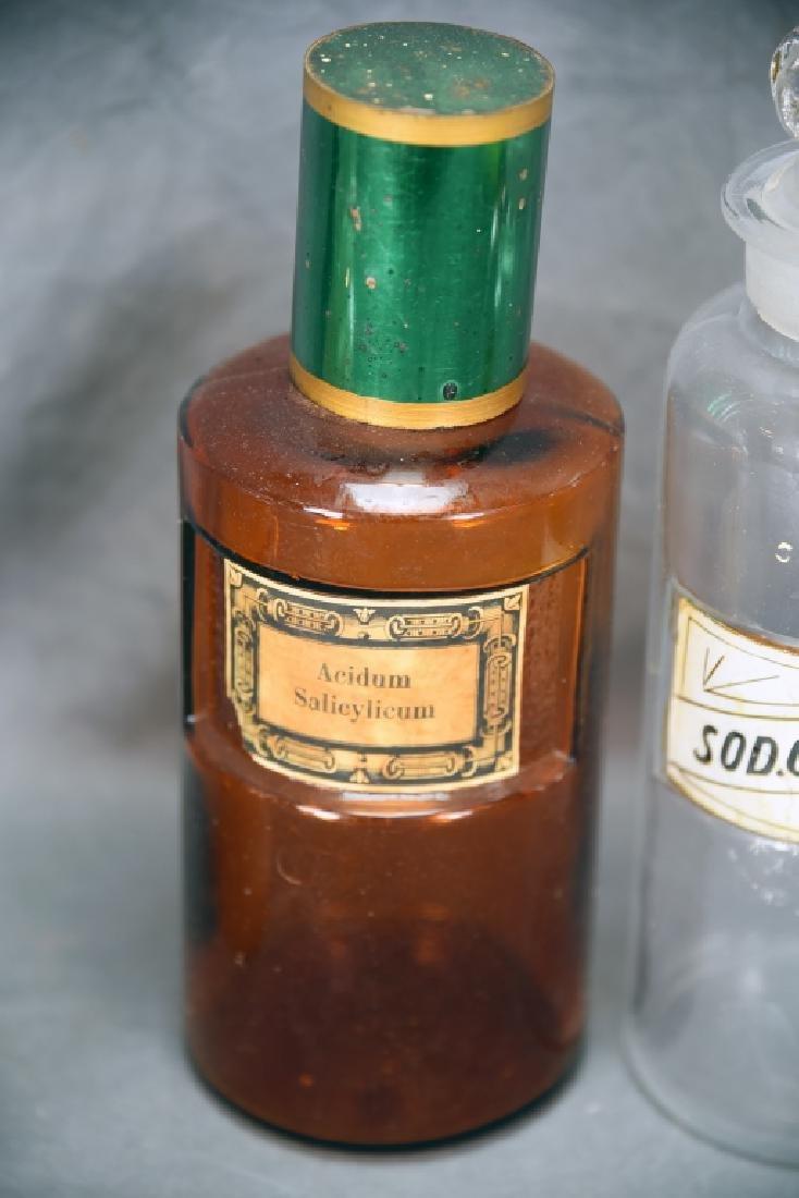 4 Antique Apothecary Bottles - 4