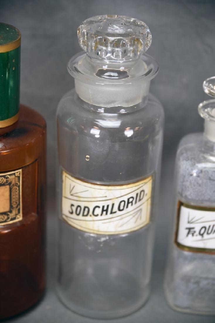 4 Antique Apothecary Bottles - 5