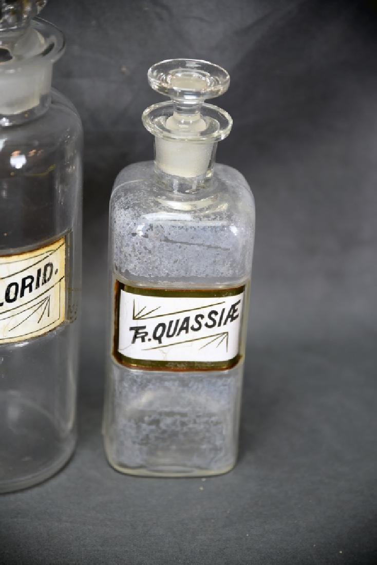 4 Antique Apothecary Bottles - 6