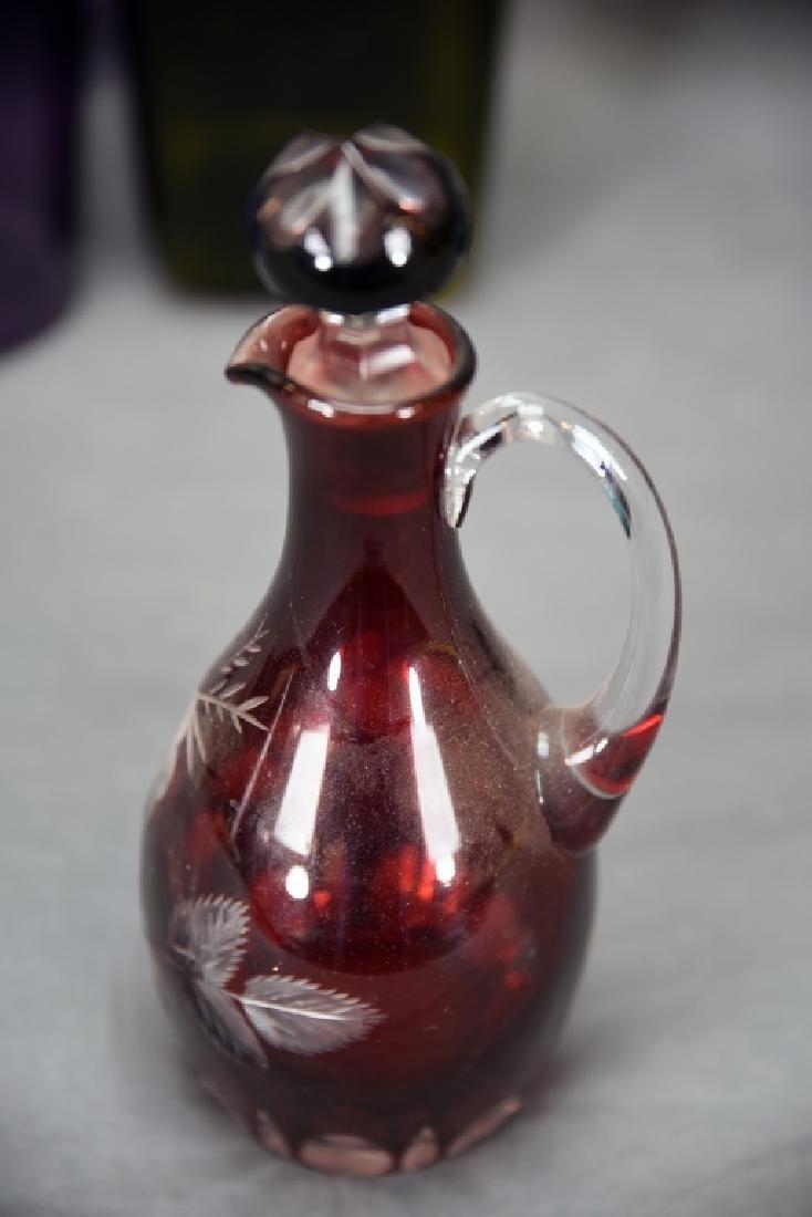 6 Newer Blown Glass Bottles - 10