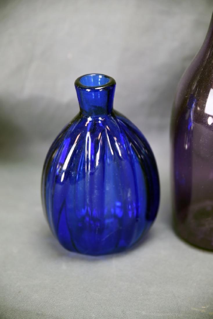 6 Newer Blown Glass Bottles - 2
